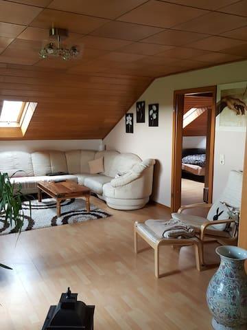 Ruhige Wohnung am Feld - Bergheim - Apartamento