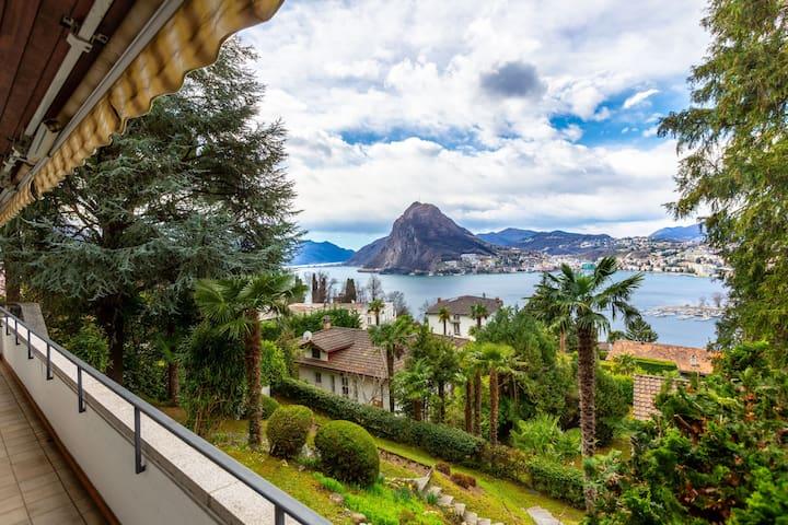 Elegant Villa Lugano Lake view (Villa Suvigliana)