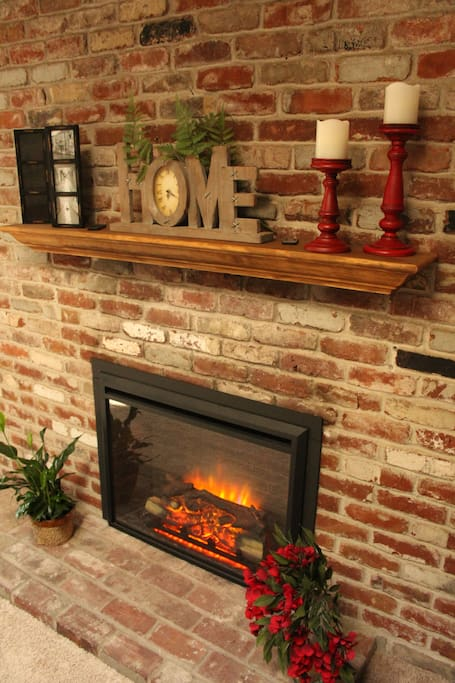Remote controlled fireplace with plenty of ambiance