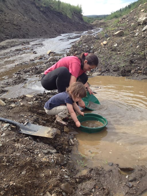 Some good old fashion Gold panning for everyone.