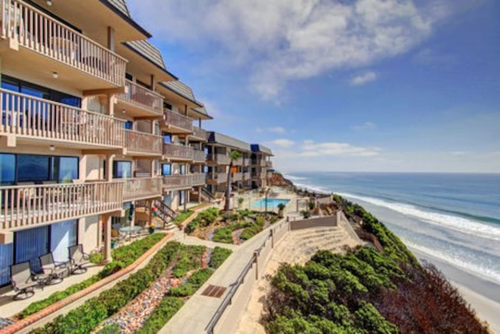 Beautiful White Water Views w/ Direct Beach Access Just across the parking lot