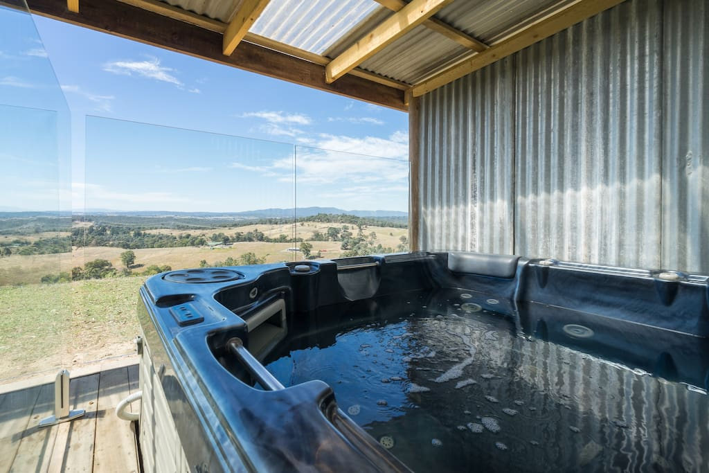 Relax in your private 5 person signature spa taking in the views to the Dandenong Ranges and Yarra Valley!
