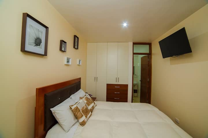 Matrimonial bed with private bathroom or singlebed