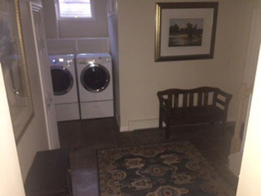 Washer and dryer only available for week or longer stays