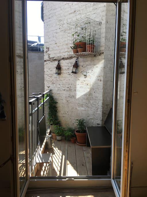 Balkon an der Küche