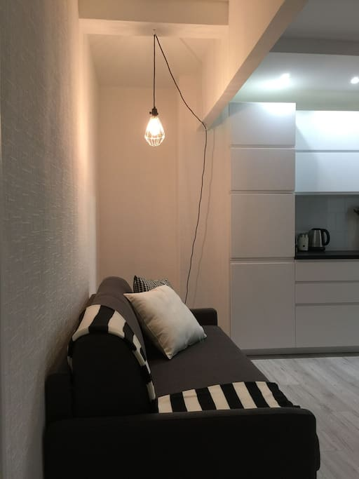 Living room where I will be sleeping