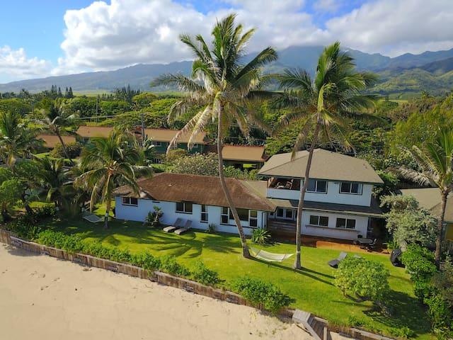 Pineapple Pad Waialua Direct Beachfront Home 30nts