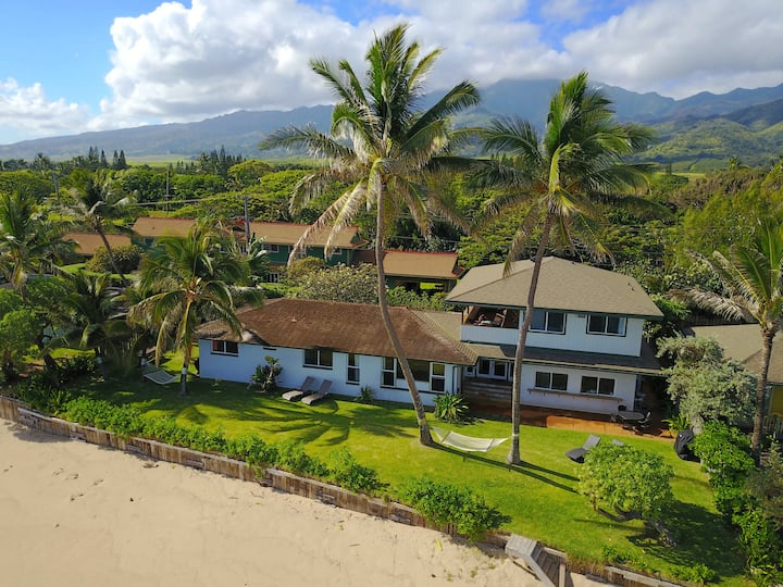 Pineapple Pad Waialua Direct Beachfront Home 30nts