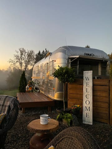 Quaint Vintage Airstream Settled in Wine Country