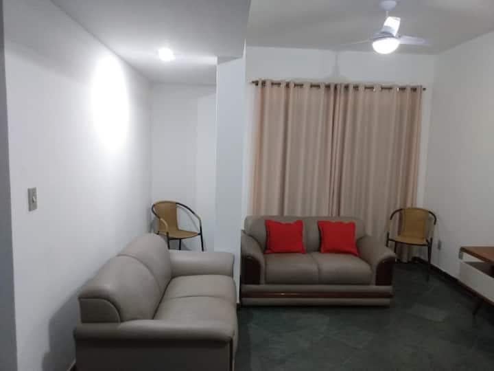 Confortável e espaçoso 2 quartos com Wi-Fi e AR