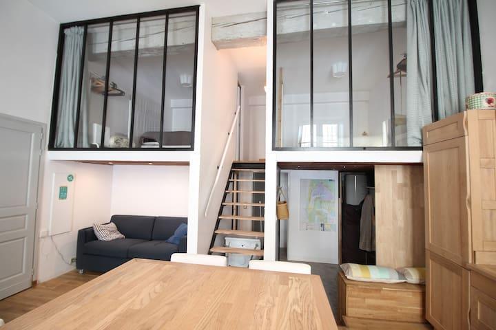 Magnifique T3 Chartrons-Apartamento-Habitación con desagüe-Apartamento-Vista a la Ciudad