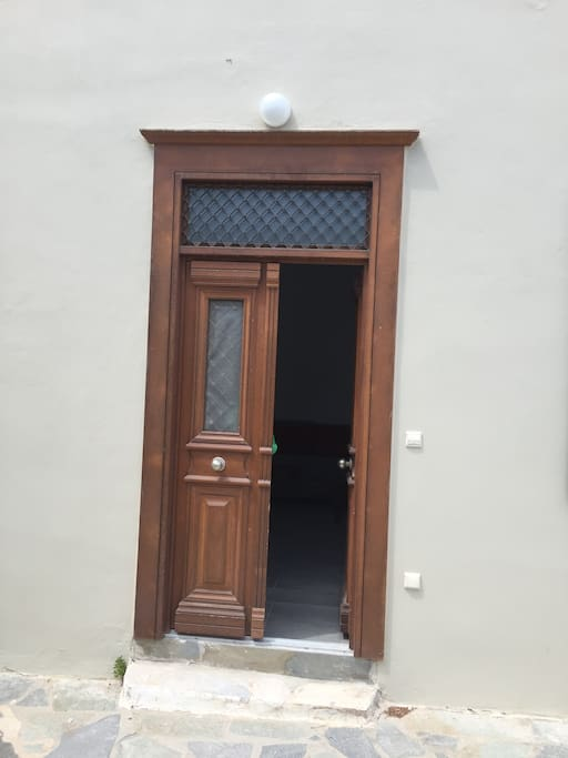 Door from yard to house