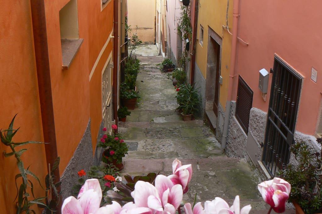 La casa nella via Scala Portella