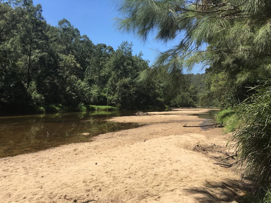 The beautiful Colo River - private access through the property