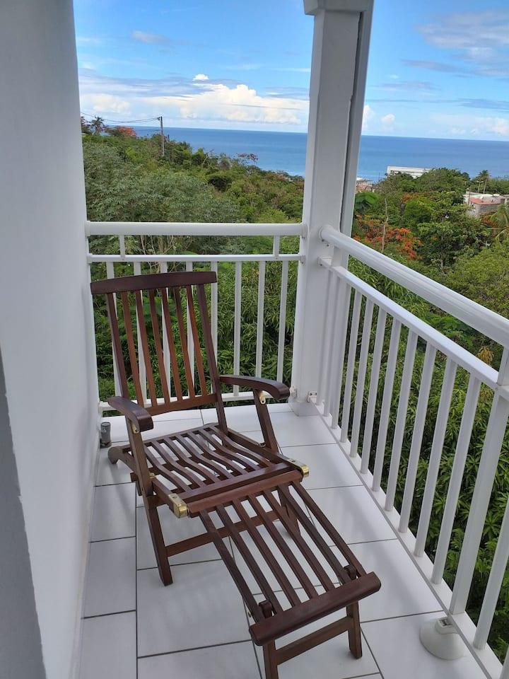 Studio balcon vue mer