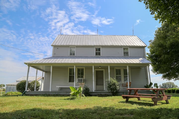The Weber farmhouse is very clean and spacious with 3 large bedrooms & comfortable beds!