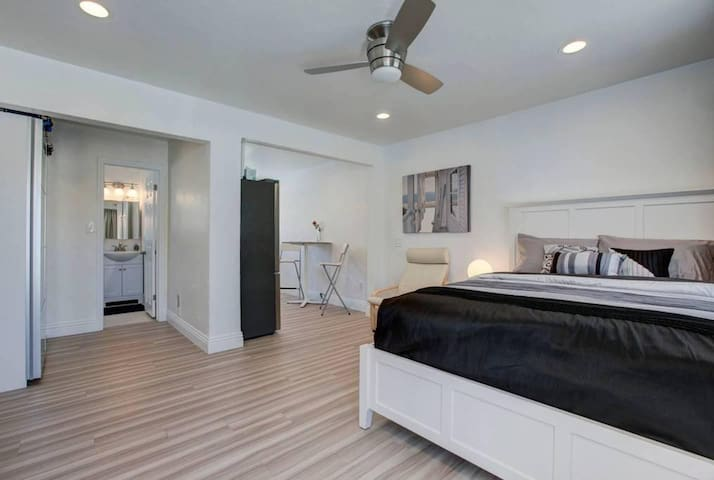 Enjoy your stay at a completely renovated and modern studio by the beach.