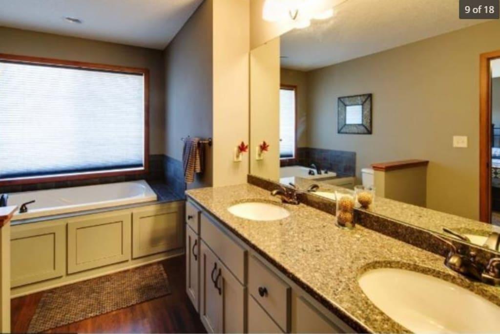 Granite counter-tops in bathrooms