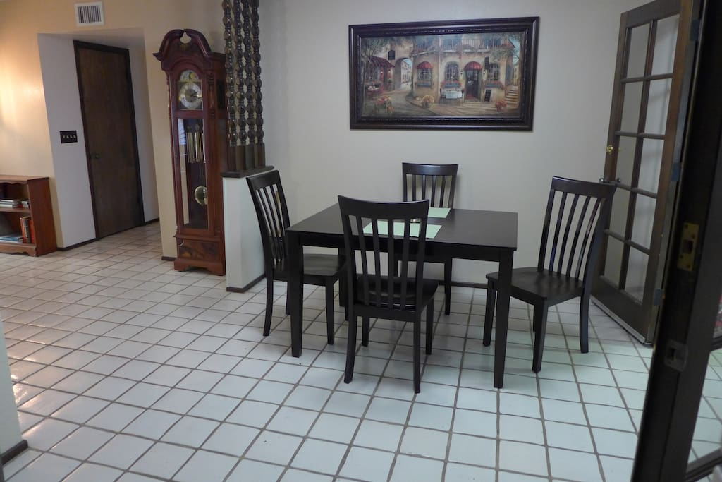 Centrally located dining area