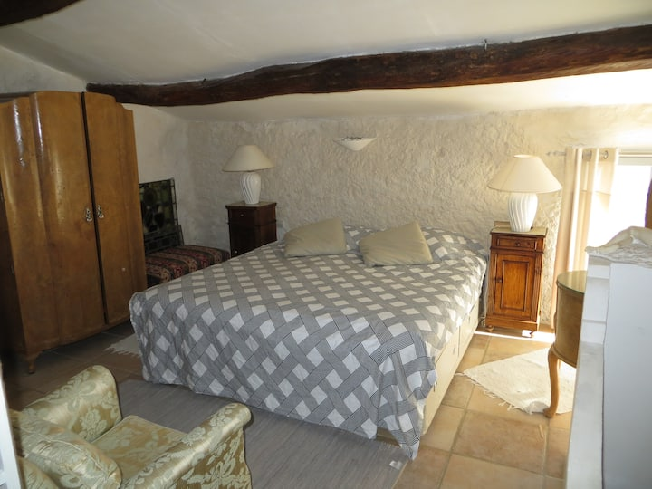 Double bedroom in a spacious village house.