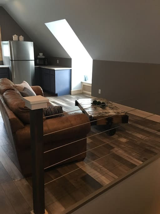 Living area with table