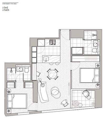 Luxury city apartment one bedroom with own bath