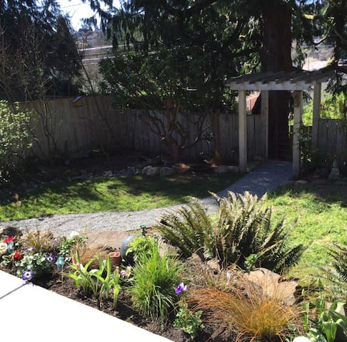 Back gardens offer a peaceful sanctuary in the city.