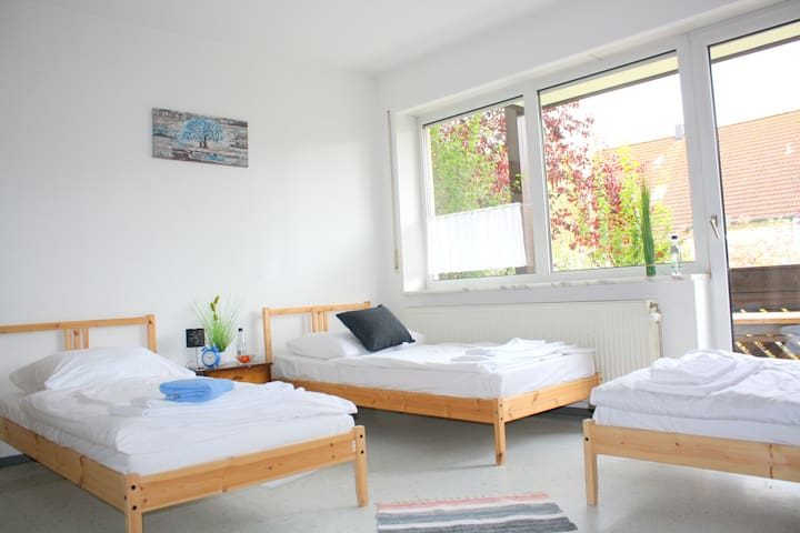 Triple room in an apartment, Bodenwöhr (ID 201/Z3)