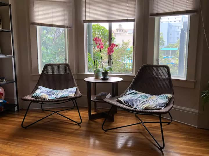 Cute Bright 2BR Downtown walk to BART