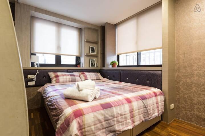 One Bedroom close to Metro 雙人房間進永安市場地鐵站