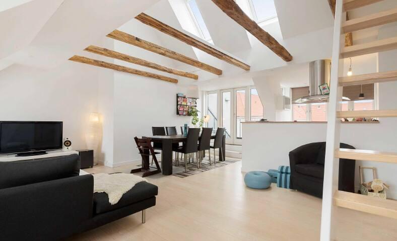 Penthouse, Sunny og familyfriendly - København - Apartment
