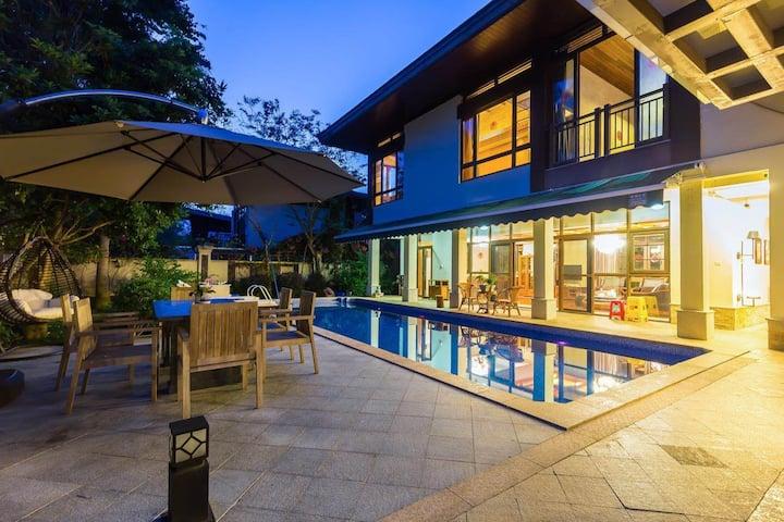 亚龙湾东南亚豪华五居独栋带泳池别墅