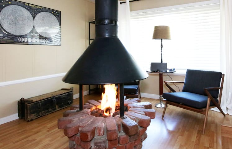 Cozy Fireplace for curling up and hanging out.