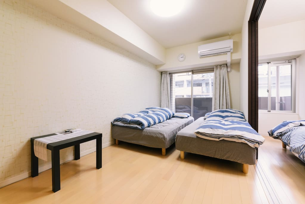 Separated bedroom