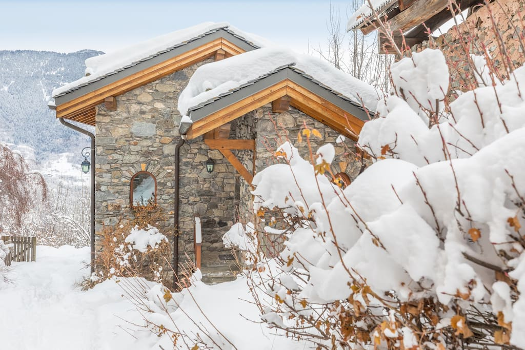 Snowy Steps to Chalet India