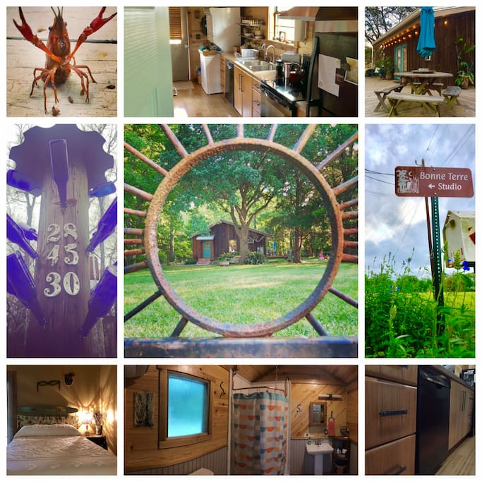 Bonne Terre Vacation Rentals: Studio. Come stay with us on our ten-acre organic farm, located right outside of Lafayette, LA.  Artists' Retreat • Farm Stay