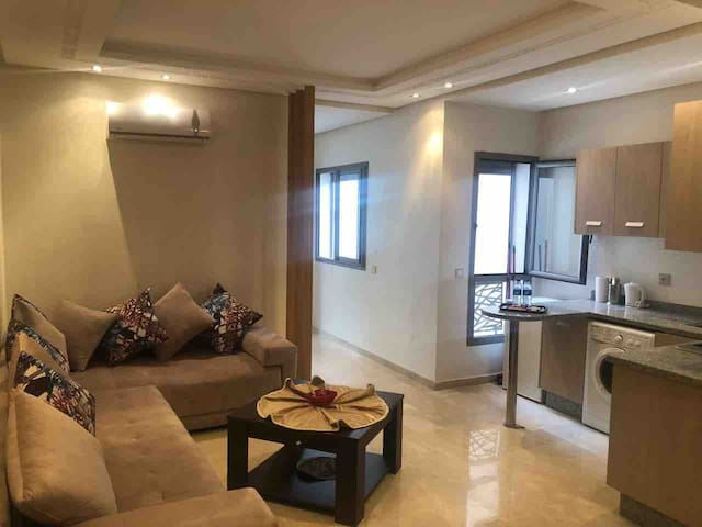 Living room with sofa & air conditioner