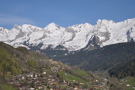 View of the Aravis from anywhere in the appartment - Le Grand-Bornand - Apartment
