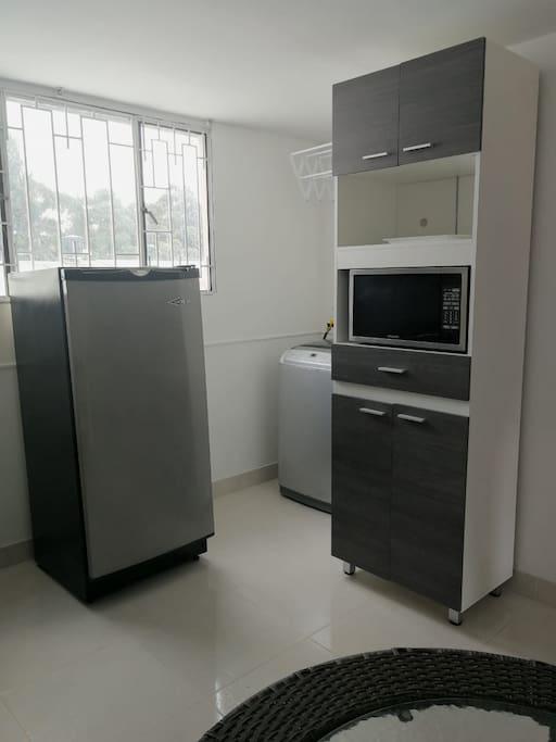 cocina y zona lavanderia