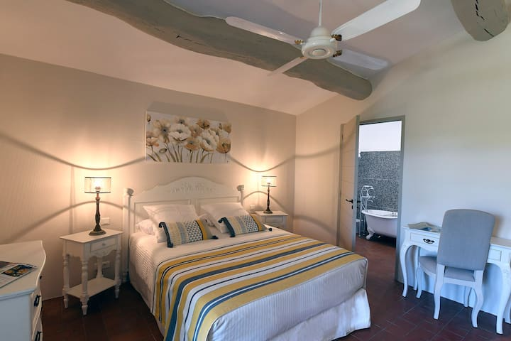 Double room-Deluxe-Ensuite with Bath-Terrace