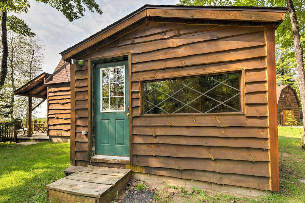 This 1-bedroom vacation rental cabin is the perfect rustic retreat in beautiful Manistique.