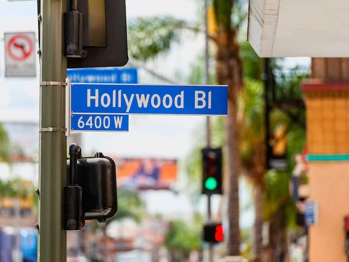Corner Studio overlooking Orange Ave in Hollywood