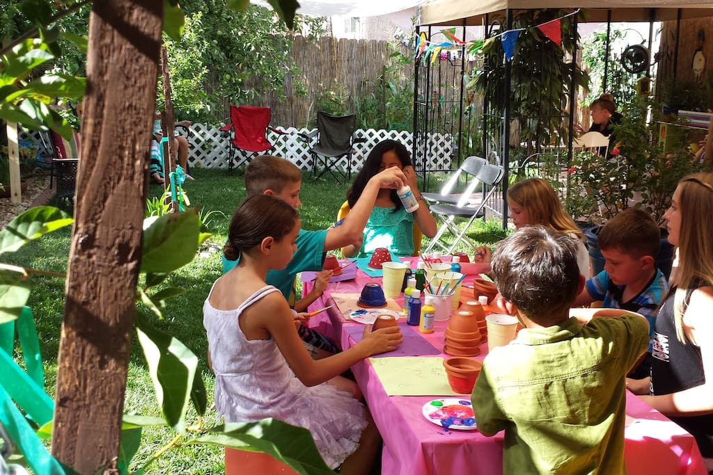 10th Birthday Party. Vegetable and butterfly garden