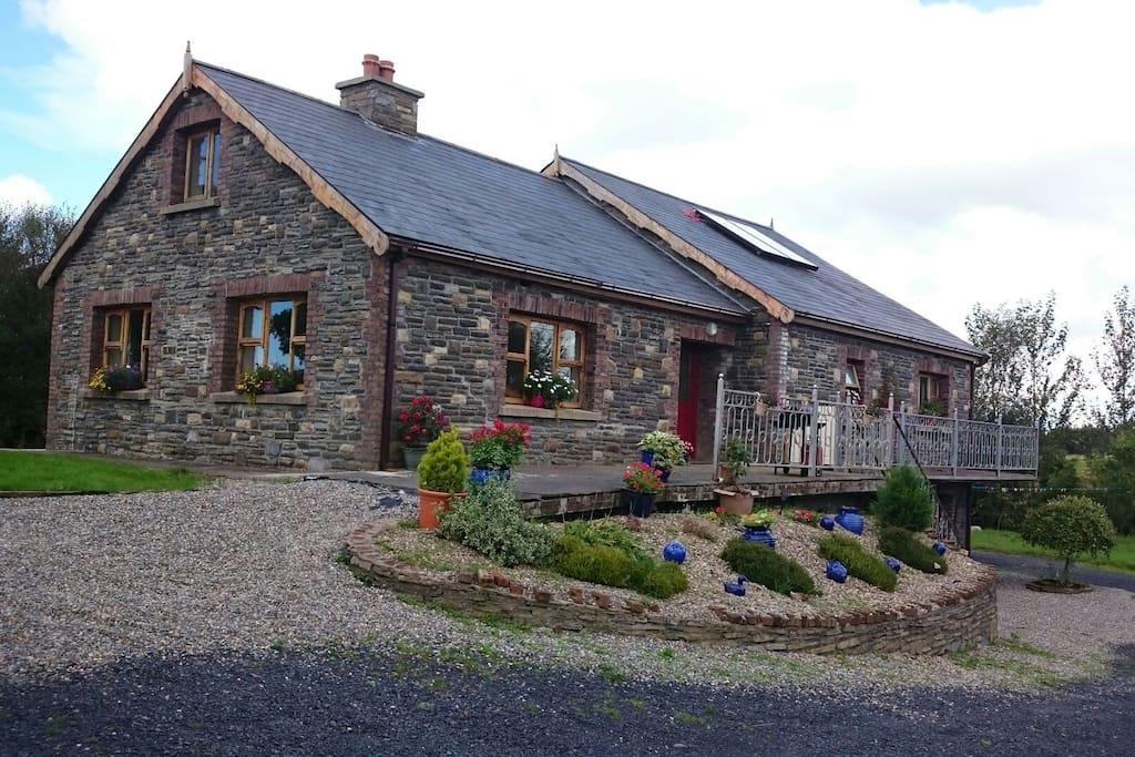 Stone clad house