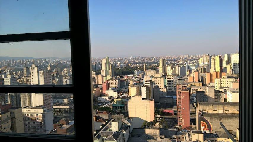 24th floor top view - functional, cozy and central - São Paulo - Condominium