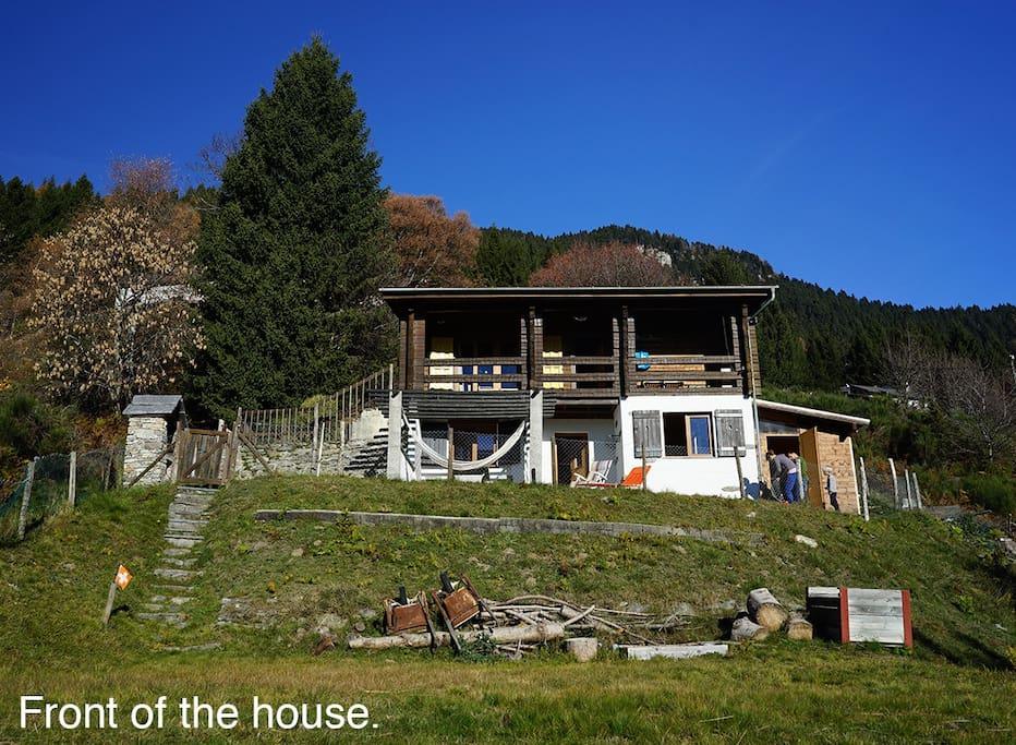 Beautiful Swiss Mountain Chalet (Front)