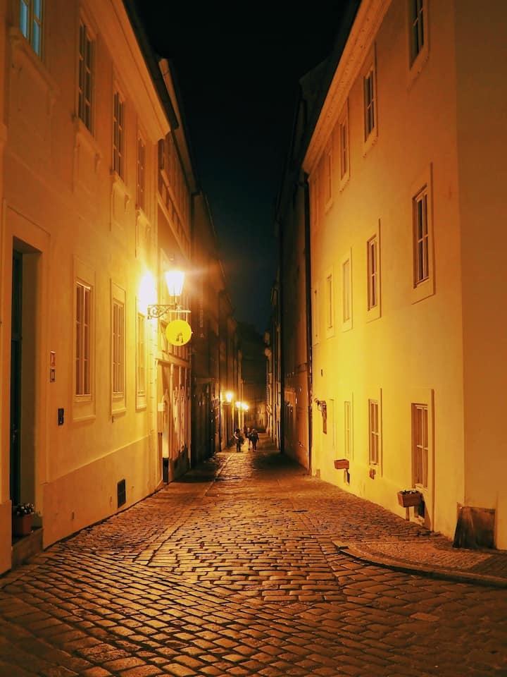 Close to the Prague castle