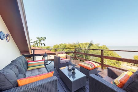 Caribbean Sea views from every window & private balcony -access to the sea