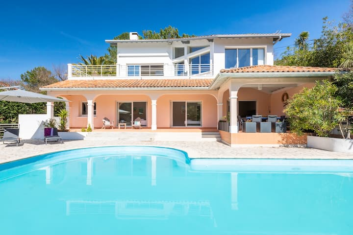 Villa Olatuak - dream house with heated pool and ocean view !