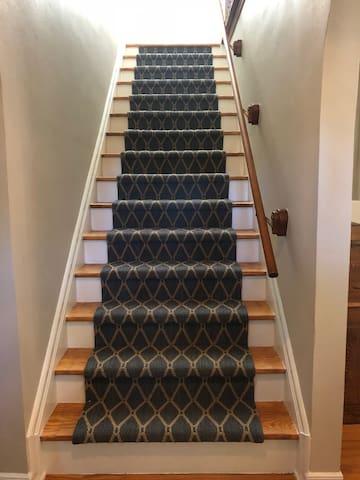 Upstairs to Bedrooms & Bathroom